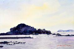섬 이야기 53.0 x 40.9cm watercolor dn ppaper watercolor by Jung in sung