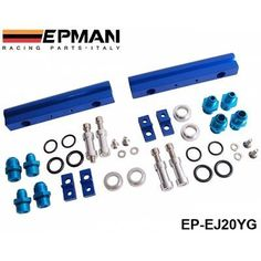 EPMAN High Flow Fuel Rail For Subaru EJ20, EJ25 WRX, + fuel pressure regulator