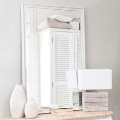 E120,- // Lichtgrijze CLÉA houten spiegel H 120 cm x B 80 cm   Maisons du Monde