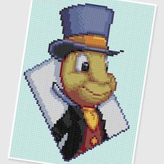 PDF Cross Stitch pattern : 0246.Jiminy Cricket by PIXcross