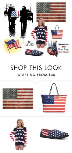 """Memorial Day"" by coolmommy44 ❤ liked on Polyvore featuring Betsey Johnson and BOBS from Skechers"