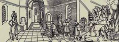 vernieling van kerkbeelden. Erhard Schön, houtsnede, 1530. Gotha, Schlossmuseum