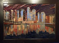 Latest piece by MadeOver Spaces, Elaine Zaichkowsky.   Vancouver Night