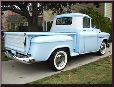 Great stock 1955 Chevy Truck, great color, nice white walls, A++