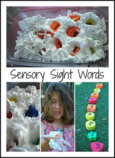 Kids can learn their sight words with a fun sensory activity. Help them practice their sight words and Get Ready for K Through Play.