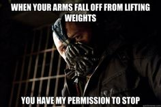 Bane as a weightlifting coach:-)