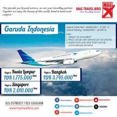 Terbang Ke Kuala Lumpur Hanya Rp 1.775.000 PP Naik Garuda , Pesan Sekarang Juga ! #Bangkok #singapore #kualalumpur
