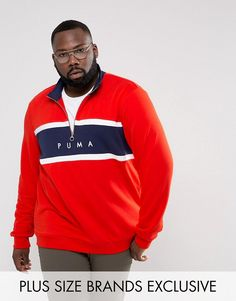 Get this Puma's hooded sweatshirt now! Click for more details. Worldwide shipping. Puma PLUS Terry Half Zip Sweat In Red Exclusive to ASOS 57658902 - Red: Sweatshirt by PUMA PLUS, Supplier code: 57658902, Soft-touch sweat fabric, Funnel neck, Half-zip fastening, Contrast panel, Embroidered logo to front, Fitted trims, Regular fit - true to size, Machine wash, 68% Cotton, 32% Polyester, Our model wears a size XXXL and is 185.5cm/6'1 tall, Exclusive to ASOS. Sportswear giants PUMA have been in…