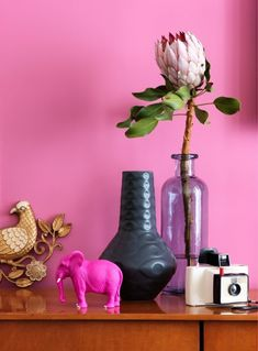 marcus hay fluff 'n' stuff: Interior Project/ Kimberly Steward/ Kess Agency - I love the colours and design and objects Pink Love, Bright Pink, Pretty In Pink, Hot Pink, Color Inspiration, Interior Inspiration, Color Magenta, Purple, Design Seeds
