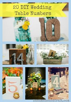 Why settle for boring table numbers when you can get creative and make your own table numbers in any style you can imagine!