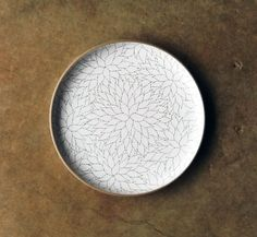 Alabama Chanin @ Heath Ceramics collaboration: Free-form, hand-etched Camellia Serving Platter ($325).