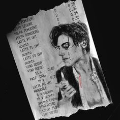 Receipt Art By Michael Moccia. Michael Moccia is one of the artists who produce the most diverse and modern works in the field of creative paint. Art Inspo, Kunst Inspo, A Level Art Sketchbook, Arte Sketchbook, Art Alevel, Art Diary, Art Hoe, Pictures To Draw, Pencil Art
