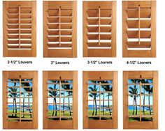 Good SHUTTERS LOUVER SIZES   FREE Estimates U0026 FREE In Home Consulation   Blinds,  Shutters, Window Blinds, Plantation Shutters, Vertical Blinds, Mini Blinds,  ...