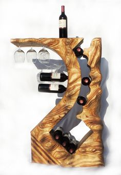 Wine Racks by The Classy Home Wood Wine Racks, Wine Glass Rack, Bottle Rack, Wine Bottle Holders, Wood Projects, Woodworking Projects, Decoration Restaurant, Wood Creations, Wine Storage