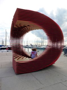 The PortHole: Anamorphic pavilion for the Living Architecture Festival by TOMA Architects