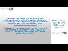 Formation Achats FRANÇAIS - ANGLAIS Etudiez, en français et en anglais, les techniques d'achat des acheteurs professionnels et les problèmes liés à la logistique et à la gestion des stocks.