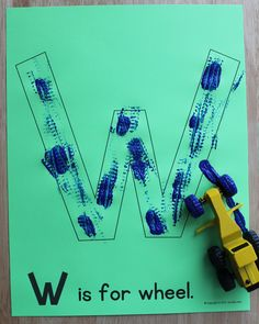 W is for wheel. ABC picture pages for letter of the week activities. Alphabet activities for preschool, pre-k, and early childhood education. Create a letter book or use for letter of the week activities.