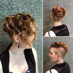 We love short hair! By @jolanmagnan  #shorthair #shorthairdontcare #curls #hairstyles #yeg #yeghair #yegsalon #headlinessalonspa #greatday #edmonton #edmontonstyle