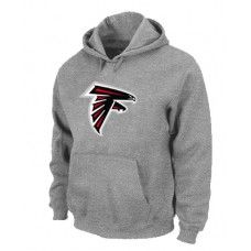 Wholesale Men Atlanta Falcons Grey Basic Logo Pullover Hoodie_Atlanta Falcons Pullover Hoodie