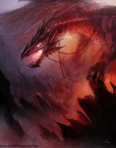 Dragón rojo de HELMUTTT en @deviantART