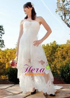 Country Hi-low wedding dress