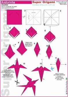 We've always wanted to build origami shapes, but it looked too hard to learn. Turns out we were wrong, we found these awesome origami shapes. Instruções Origami, Origami Yoda, Origami And Kirigami, Origami Dragon, Origami Fish, Origami Folding, Paper Crafts Origami, Useful Origami, Origami Design