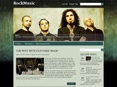 RockMusic WordPress theme