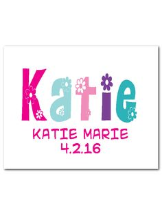 A personal favorite from my Etsy shop https://www.etsy.com/listing/291579761/personalized-nursery-wall-art-kids