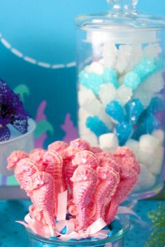 Mermaid themed party!  Love the rock candy!