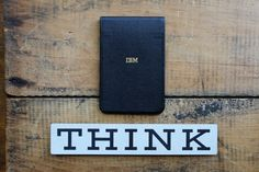 Vintage IBM THINK Sign + Notepad by tippleandsnack