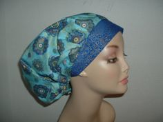 Girlie Sugar skulls Euro OR Surgical European Scrub Hat CNOR CRNA Theatre Cap