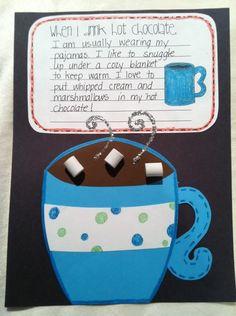A Cupcake for the Teacher: Hot Chocolate Craft + Freebie