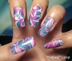 Tronica Water Marble mani tutorial