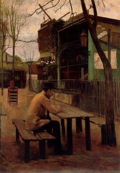 """Santiago Rusiñol ( 1861-1931) """" El Moulin de la Galette""""  c.1890  Click to see more of his work///////////////"""
