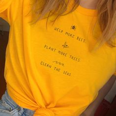 284f89ced457d6 US $8.01 34% OFF|Help More Bees T Shirt Women Plant More Trees Graphic Tees  Women Save The Seas Graphic Tees Women Shirts 2019 Drop Shipping-in  T-Shirts ...