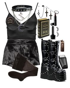 Designer Clothes, Shoes & Bags for Women Cute Emo Outfits, Bad Girl Outfits, Edgy Outfits, Mode Outfits, Retro Outfits, Grunge Outfits, Egirl Fashion, Gothic Fashion, Fashion Outfits