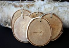 loving these birch flats for ornaments :)