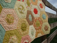 Hand Quilted Throw in Moda Whimsy collection by lovequilt on Etsy, $290.00