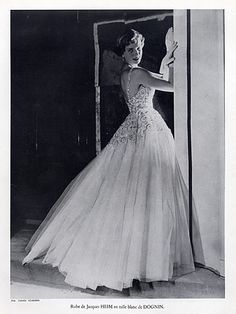 Jacques Heim 1950 Evening Gown