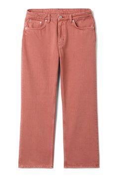 Model front image of Weekday voyage rose jeans in orange