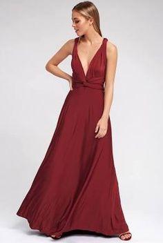 150f5c40b49 Always Stunning Convertible Burgundy Maxi Dress 10