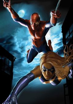 Spider-Man and Ms. Marvel by Greg Horn