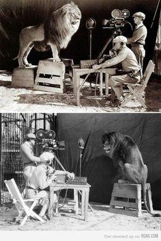 Shooting the MGM logo 1924 &1929