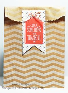 There are just 3 days left of Stampin' Up!'s annual sale, Sale-A-Bration. Visit www.iStampin.com to see what I created today.