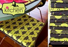 Nature Brights Kitchen: No-Slip Chair Cushions with Boxed Corners