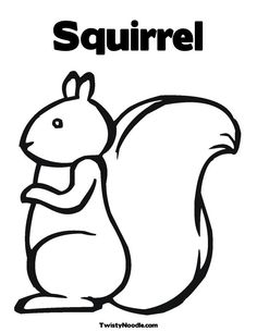 squirrel outline - Google Search