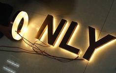 Supply-Bronze-Reverse-Lit-Channel-Letter-Sign
