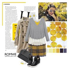 """Yellow and Grey"" by feelgood35 ❤ liked on Polyvore featuring moda, Uniqlo, Marc by Marc Jacobs i French Connection"