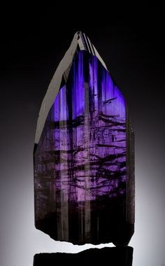 Large Gem Tanzanite Crystal from the Merelani, Arusha, Tanzania. a gorgeous large Gem Tanzanite Crystal from the Merelani, Arusha, Tanzania, more than four inches high and estimated at $300,000