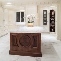 We've been teasing bits for a while, now the kitchen in our Kalorama design project with Susan Harreld is ready to be revealed. As with the transformation of the entire home, the kitchen was designed with respect for the historic architecture, while updating the space to 2017 standards. Clive Christian signature Architectural cabinetry was chosen, but simplified. P.E. Gurein bespoke, classic beaded nickel fittings were used, and complimented with nickel coated, hand pounded copper sinks. All…